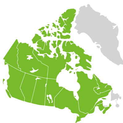 Distribution: Potamogeton richardsonii (A. Bennett) Rydberg